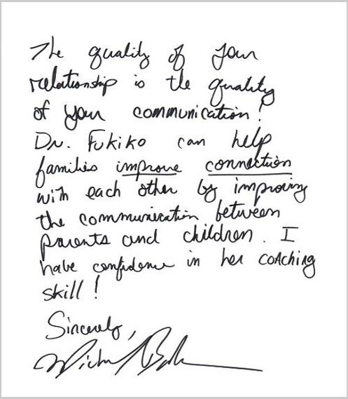 マイケル・ボルダック氏からのお手紙