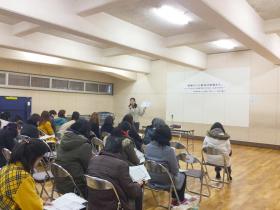 平成27年度三条市内中学校保護者向け家庭教委講座の様子